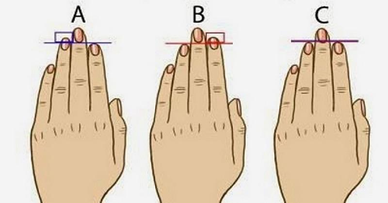 dĺžka prstov a charakter človeka