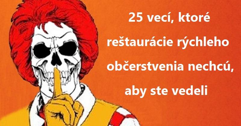 fast food reštaurácie
