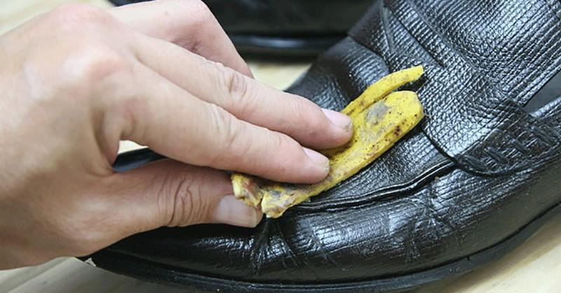 použitia banánových šupiek