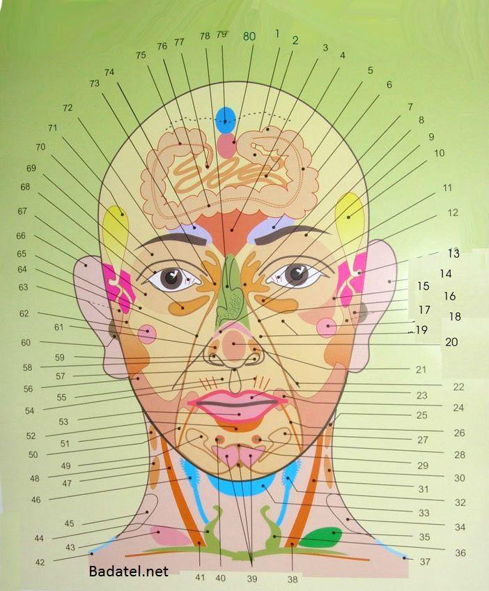 mapa akné na tvári