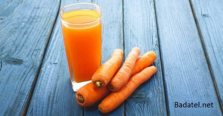 Hojnosť blahodarných účinkov mrkvovej šťavy