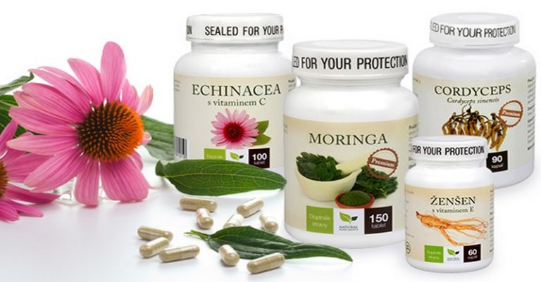 Prírodné prípravky proti nachladnutiu – Echinacea, Ženšen, Cordyceps, Moringa