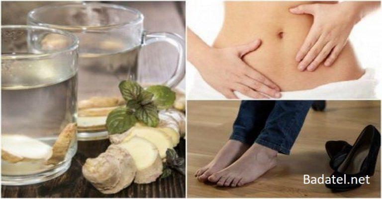 Zázvorová voda: Najzdravší nápoj na spaľovanie všetkých tukov usadených na drieku, chrbte a stehnách