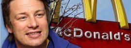 Šéfkuchár Jamie Oliver podáva dôkaz, prečo hamburgery McDonald nie sú vhodnou súčasťou ľudskej stravy