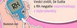 Rh negatív: Sú medzi nami mimozemšťania?