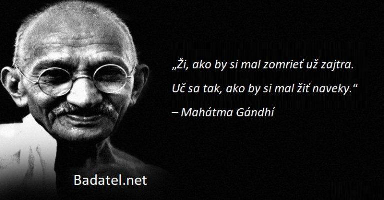 Ako zmeniť svet: 10 vrcholných pravidiel podľa Gándhího
