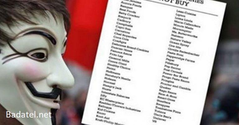 """Hlavný zoznam výrobcov """"potravín"""" ovplyvnených spoločnosťou Monsanto"""