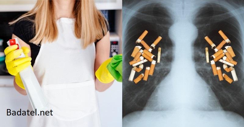 Štúdia: vystavovanie sa účinku domácich čistiacich prostriedkov je to isté, ako fajčiť 20 cigariet denne