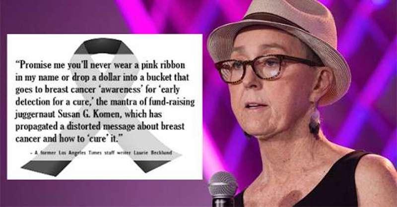 Posledné slová novinárky vás donútia zamyslieť sa nad celým priemyslom rakoviny prsníka