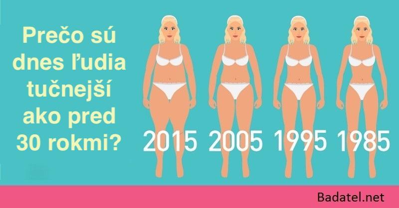 Prečo sú dnes ľudia tučnejší ako pred 30 rokmi (nie je to stravou ani cvičením)